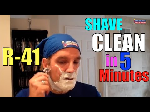 "5 Minute Muhle R41 Shave From Lather To Rinse ""Get In, Get Done, Get Out Quickly!"""