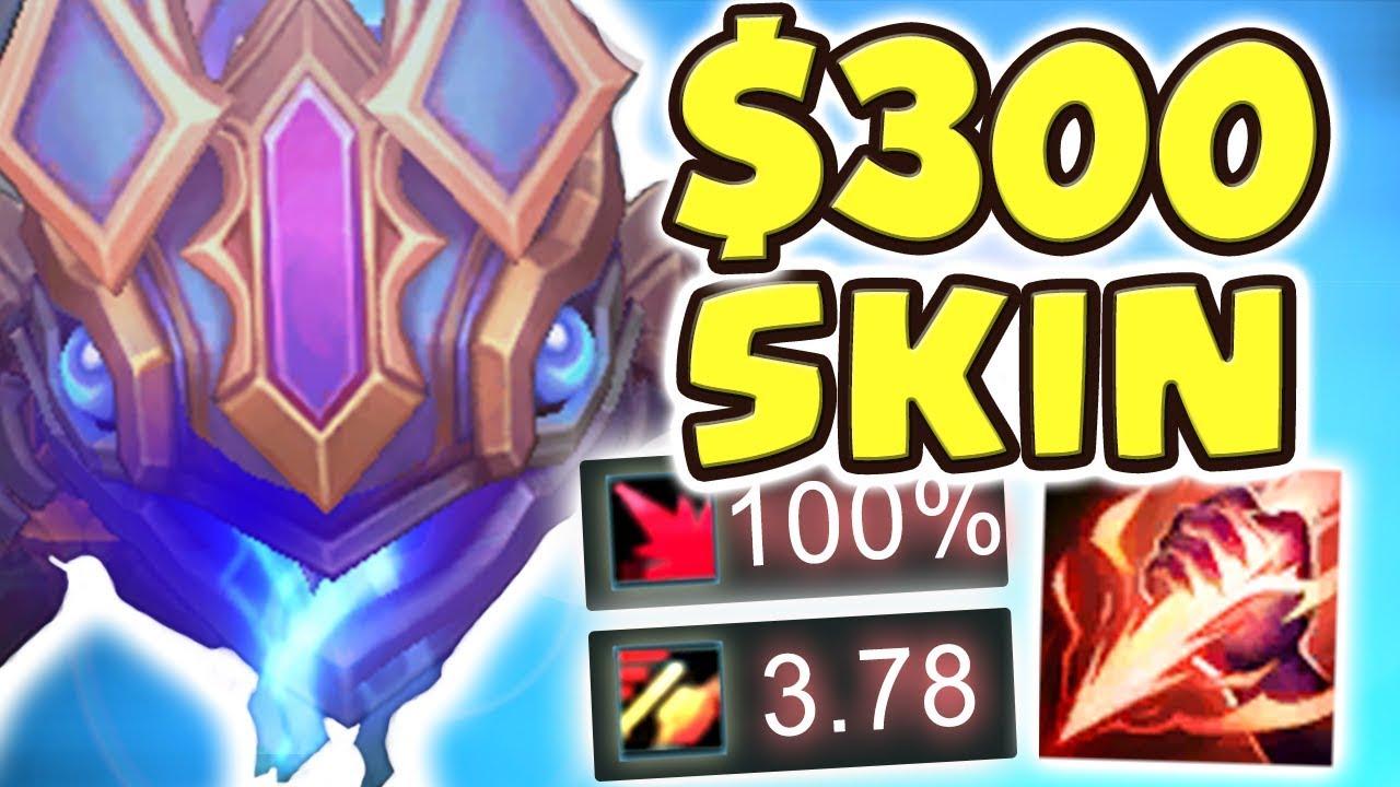 $300 SKIN!! 1 VERSUS 5 PENTAKILL | NEW HEXTECH KOG'MAW JUNGLE SPOTLIGHT | 3.78 ATTACK - Nightblue3