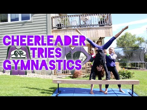 Cheerleader Tries Gymnastics