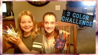 3 Color Drawing Challenge | K&A Sisters