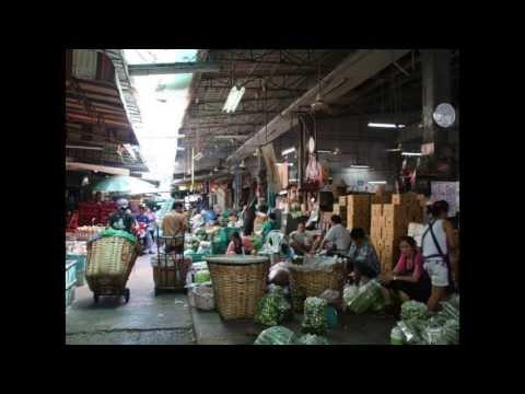Pak Khlong Talat Blumen & Gemüsemarkt Bangkok Thailand