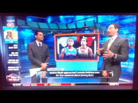 Joakim Noah Recruiting Carmelo to Bulls?