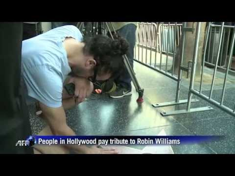 Tribute to Robin Williams on Hollywood's Walk of Fame