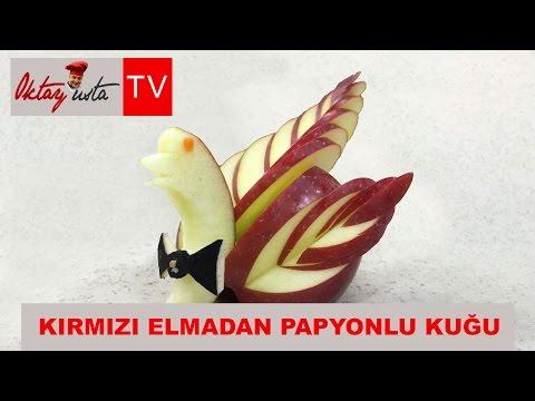 Oktay Usta kırmızı elmadan papyonlu kuğu