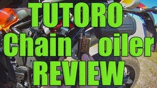 TUTORO automatic motorcycle chain oiler review!