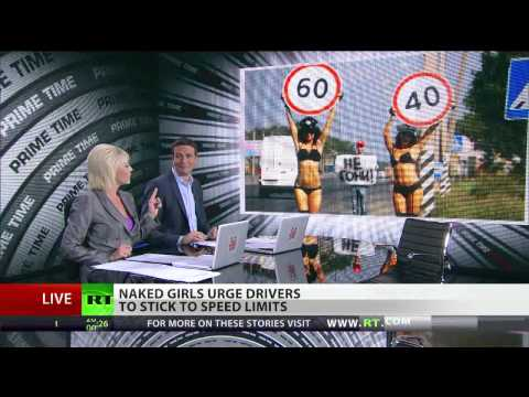 Naked Girls Urge Drivers To Stick To Speed Limits video