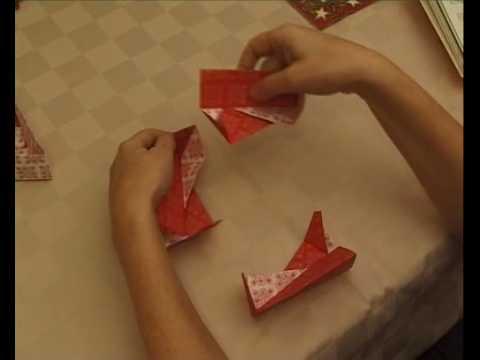 Karácsonyi ajándékdoboz készítés, origami