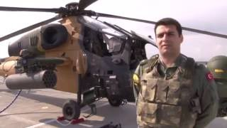 Super Technology TURKISH TAI T-129 ATAK Attack Helicopter for fight against pkk terrorists 2016 HD