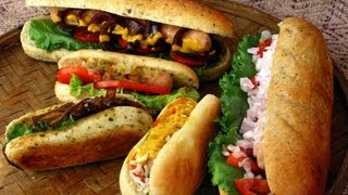 Recipe - Vegetable Hot Dog Thali Recipe With English Subtitles