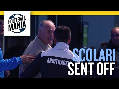 Scolari Sent off - Brazilian Coach (Grêmio/RS) out of the match vs. Santos