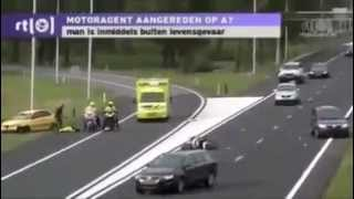 Terrible accident de la route   accident  motard