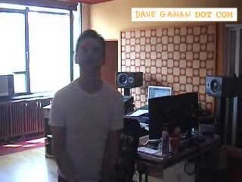 Dave Gahan - In The Studio (clip #1) Video