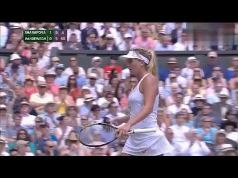 Maria Sharapova VS Coco Vandeweghe Highlight 2015 WC Quarterfinal
