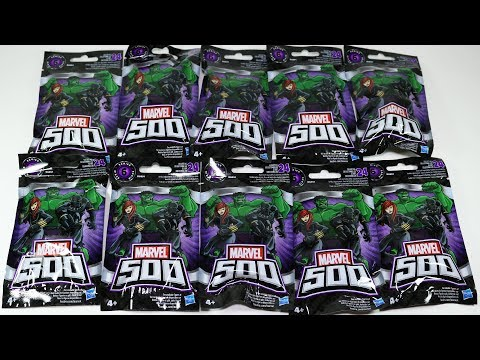 10 Marvel 500 Blind Bags:  Hulk, Black Widow, Iron Man Hologram!   NO DUPLICATES!
