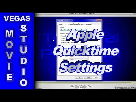 Install Apple Quicktime when using Sony Vegas Movie Studio HD Platinum 11