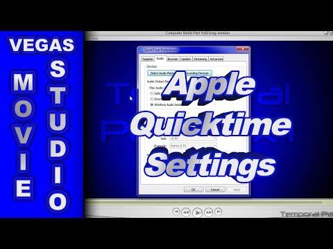 Install Apple Quicktime when using Sony Vegas Movie Studio HD Platinum 11