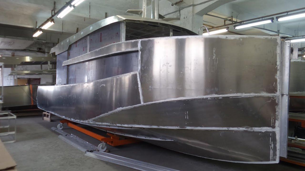 Так строят алюминиевые катера и яхты в Санкт Петербурге
