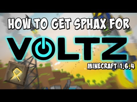 How To Get The Sphax For Voltz Minecraft 1.6.4!