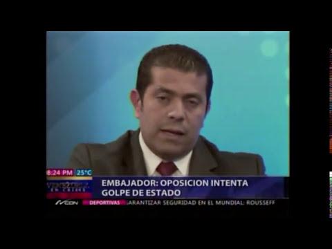 Pleito entre Nuria y Embajador de Venezuela Alberto Castella