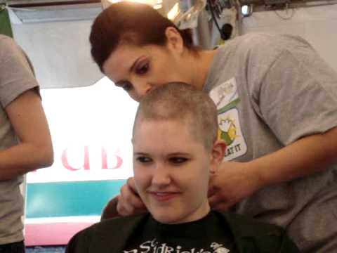 Female Shavee Charity Headshave - St Baldrick's -  - Hibernian Restaurant & Pub, Nc - March 5, 2011 video