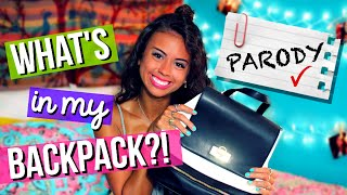 BACK TO SCHOOL: What's In My Backpack + School Supplies Haul 2016! (PARODY)