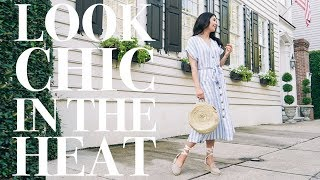 [AD] How To Look Chic In The Heat   Easy Skin, Hair, Makeup & Clothes