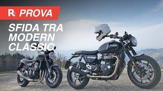 Kawasaki Z900RS vs Triumph Speed Twin, comparativa tra le modern classic
