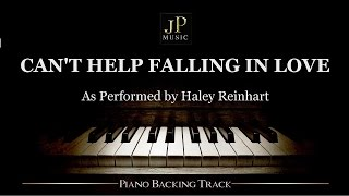 Can 39 T Help Falling In Love Piano Accompaniment Haley Reinhart