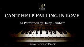 Download Lagu Can't Help Falling In Love (Piano Accompaniment) Haley Reinhart Gratis STAFABAND