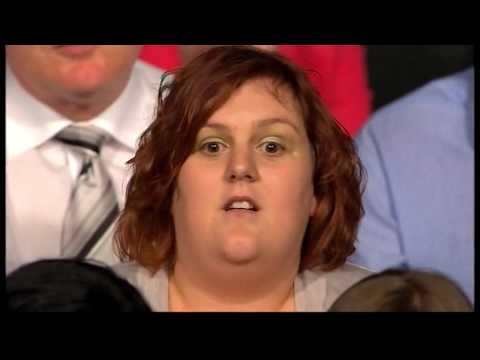 Woman in Question Time audience pwns the MPs! (29.04.10)