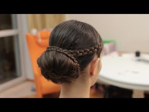 Причёска пучок мастер класс