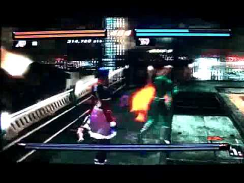 Tekken 6 - Nina (SigmaSudou) and Alisa (CPU) at Millennium Tower Heliport (Hard) Video