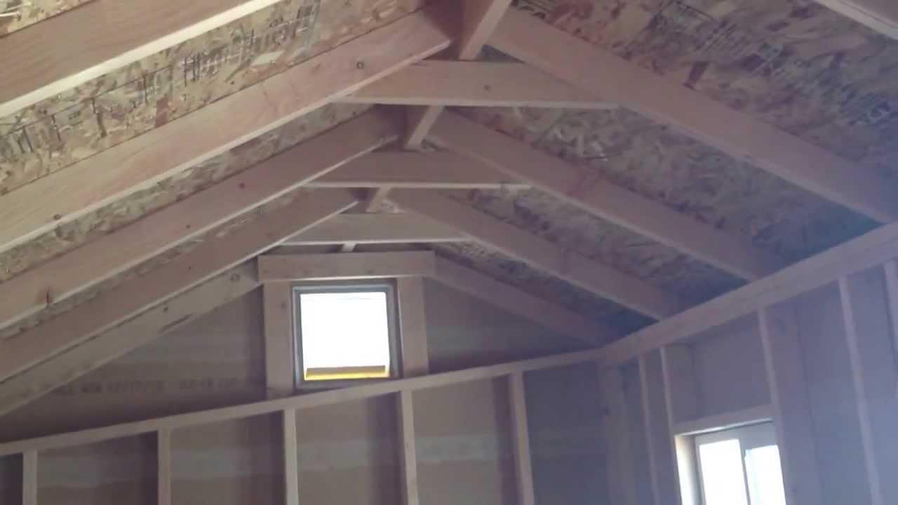 8 X 16 Cottage Storage Shed 2x6 Pressure Treated Fl