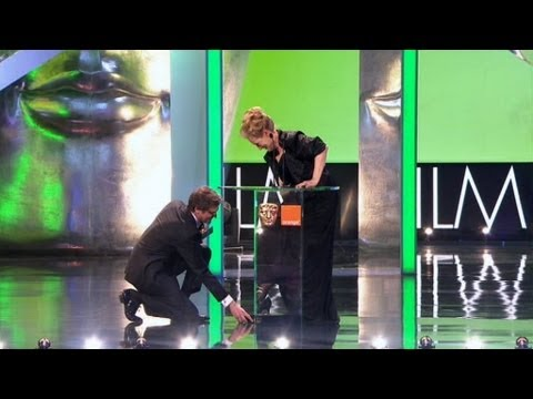Meryl Streep wins a BAFTA but almost loses a shoe - The British Academy Film Awards 2012 - BBC One