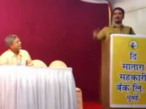 Vishwas Nangre Patil's Speech At Baburao Shete Srujan Gaurav Puraskar 2012 video