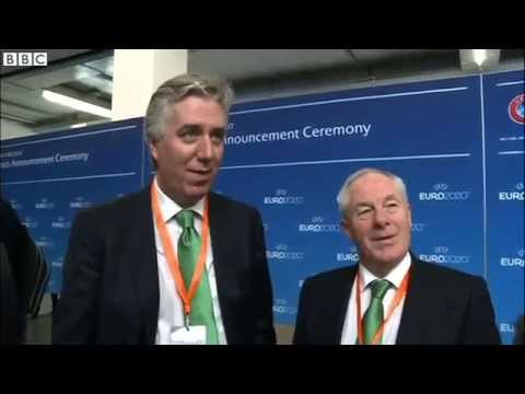 BBC Sport - Euro 2020 Host Cities Announcment reaction - John Delaney and Michael Ring (17/9/14)