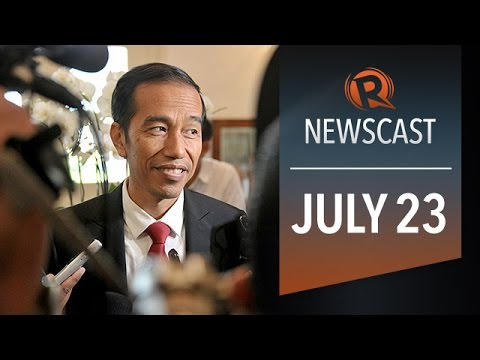 Rappler Newscast: Jokowi wins, flights avoid Israel, Aquino vs. SC