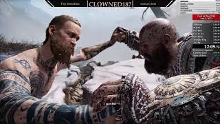 God of War 2018 | NG+ Any% Speedrun | (3:59:07) Previous Record | World First Sub 4 Hour run