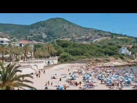 Beaches of Sitges, Catalonia, near Barcelona, Spain - playa, travel, tourism