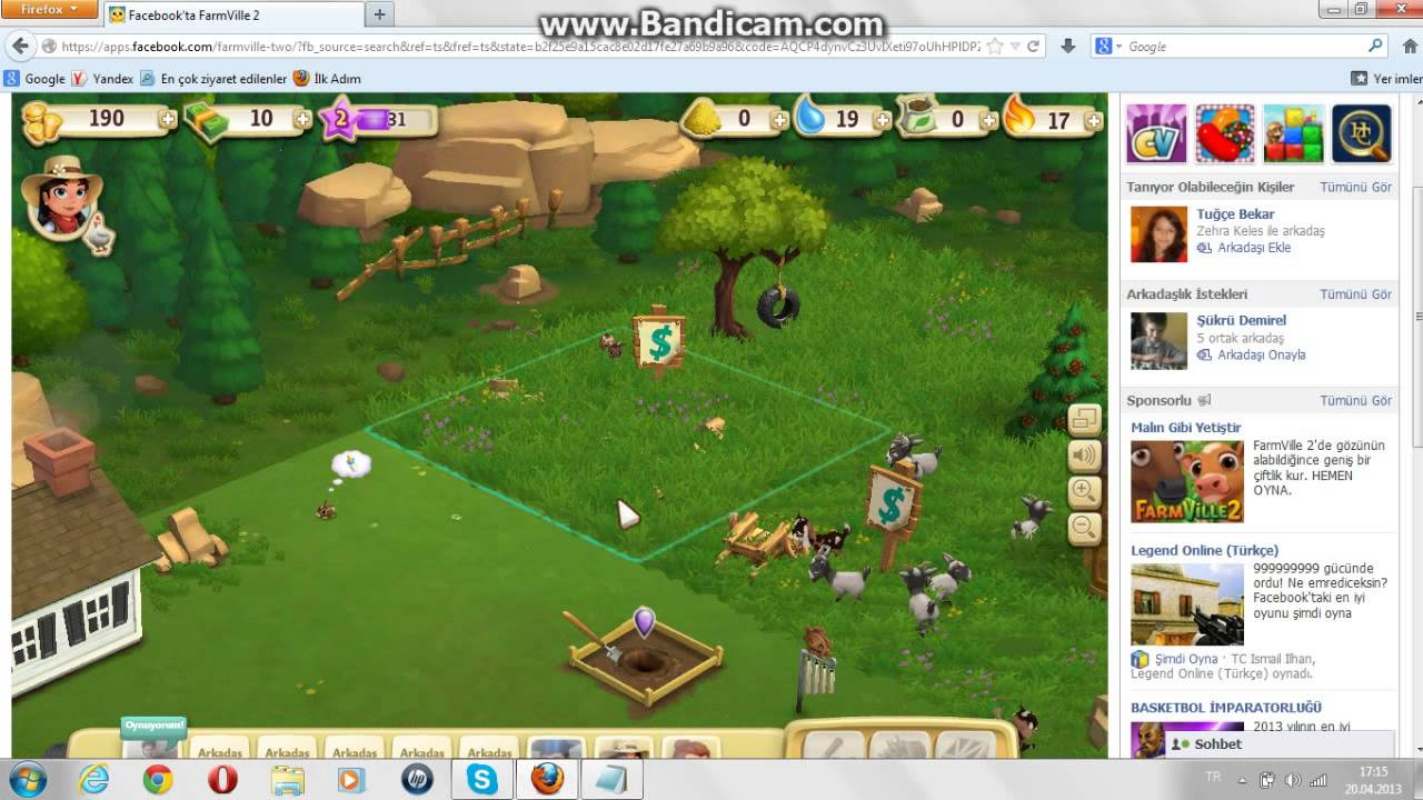 farm ville 2 alan genisleme hilesi - YouTube