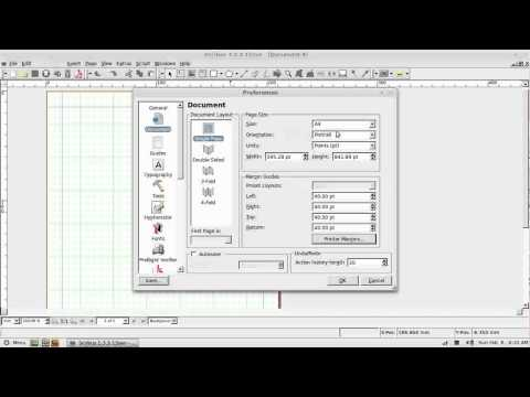 Scribus Video Tutorial - Part 1 - Basic Introduction and Setting Preferences