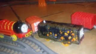 Thomas and friends trackmaster salty was in trouble crashing(1)
