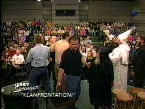 JERRY SPRINGER - KLANFRONTATION FIGHT
