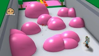 Giant Bubble Gum Bubbles ! Bubblegum Simulator Roblox + Winter Obby