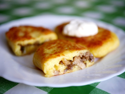 Картофельные зразы с грибами. Очень вкусное блюдо