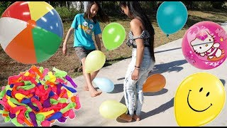 Foot Balloon Popping Challenge !!