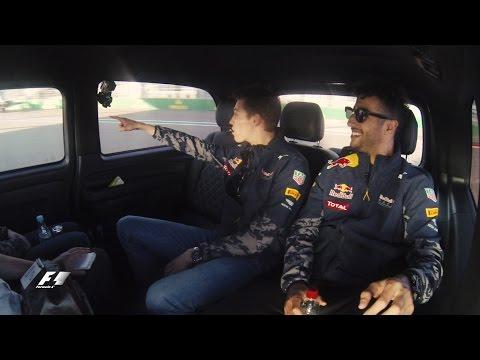 Daniil Kvyat and Daniel Ricciardo take a Sochi drive