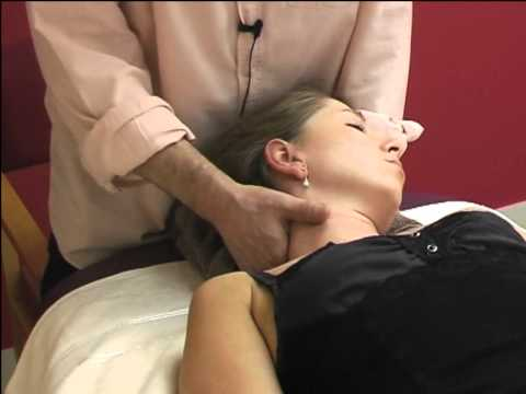 Asian massage techniques on table: neck and head 4