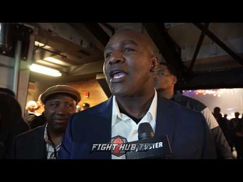 EVANDER HOLYFIELD CALLS DEONTAY WILDER A WARRIOR AFTER ORTIZ FIGHT TALKS JOSHUA VS WILDER