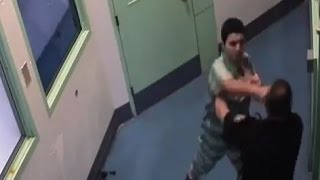 Yakima County Jail - Uncooperative Inmate Fights Correctional Officer